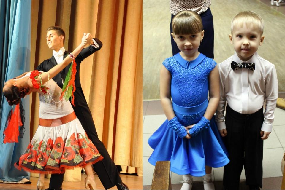 Турнирные танцевальные платья  для девочек выполнены мамой девочки, занимающейся в танцевальном клубе Dancepride.
